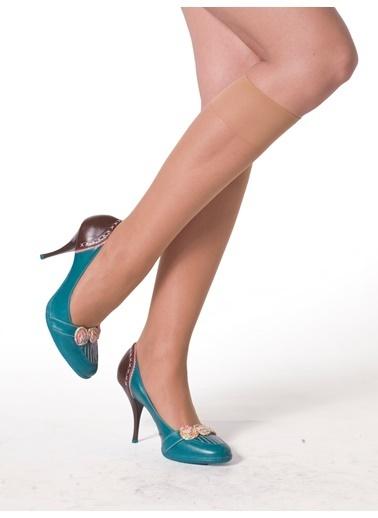 Miorre 4 Çift Likralı İnce Dizaltı Çorap Ten